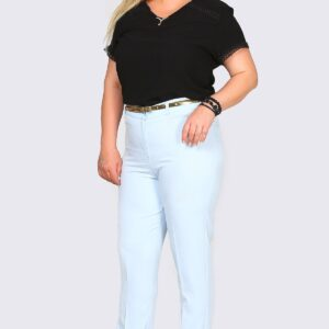 Oversize Classic Cut Light Blue Pants