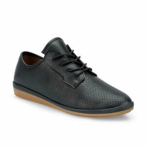 حذاء أسود موحد اللون نسائي