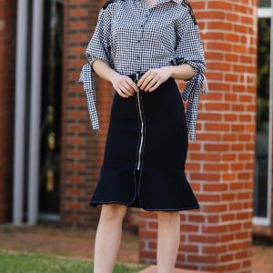 Women's Short Skirt Shirt Set