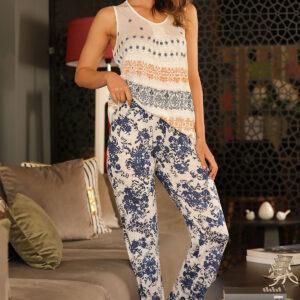 Print Patterned Pajama Set