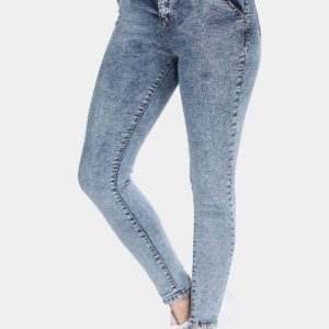 Women's Pocket Blue Skinny Jeans