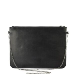 Women's Chain Strap Snake Pattern Black Bag