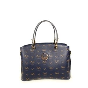 Women's Patterned Navy Blue Bag