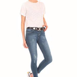 Women's Pocket Blue Jeans