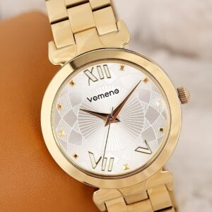 Women's Metallic Corded Watch