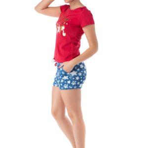 Women's Patterned Shorts Pajama Set