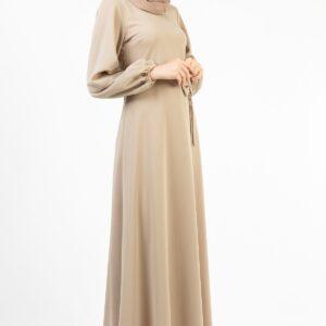 فستان طويل مكشكش نسائي