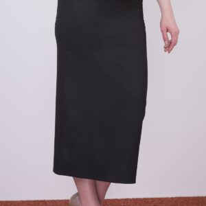 Women's Belted Midi Pencil Skirt