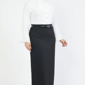 تنورة طويلة بحزام مقاس كبير نسائية