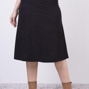 تنورة قصيرة واسعة مخملي نسائية