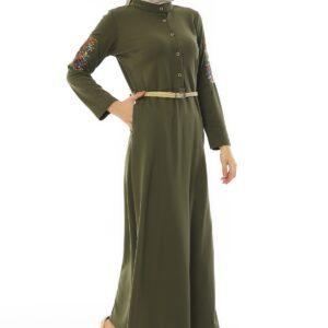 Women's Green Modest Long Dress