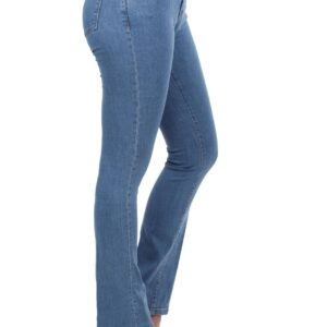 Women's Pocket Blue Flare Jeans