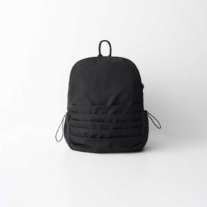 Women's Shirr Detail Black Backpack