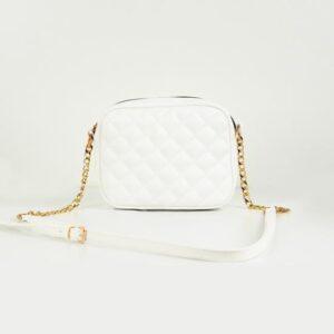 حقيبة مبطنة بيضاء نسائية