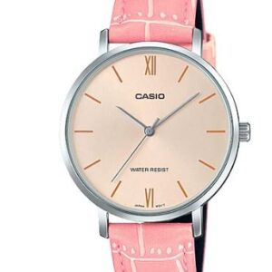 Women's Metal Case Pink Strap Watch