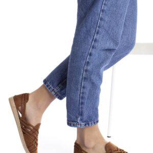 حذاء فلات بني فاتح بباند كروس نسائي