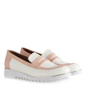 حذاء أبيض وردي فاتح نسائي