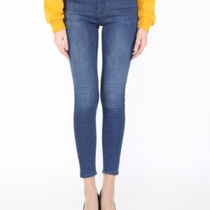 Women's Blue Skinny Ankle Jeans