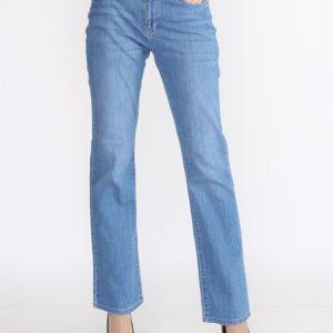 بنطلون جينز أزرق فاتح بأرجل عريضة نسائي