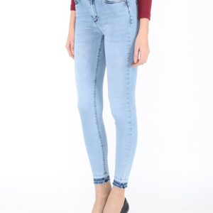 Women's Light Blue Skinny Jeans Pants