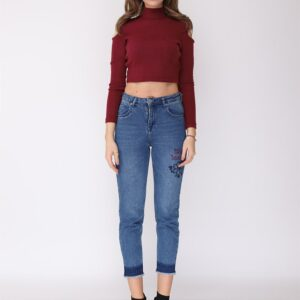 Women's Printed Mom Jeans