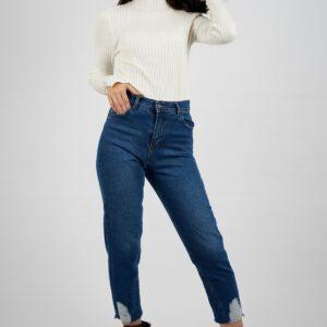 بنطلون جينز بأرجل مفصلة نسائي
