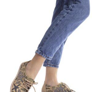 حذاء رياضة قش مزخرف نسائي