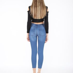 Women's High Waist Ankle Jeans