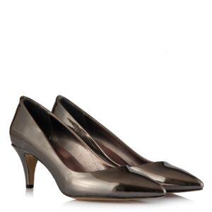 حذاء بكعب رمادي غامق نسائي