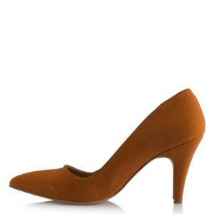 حذاء ستيليتو جلد سويدي بني فاتح نسائي