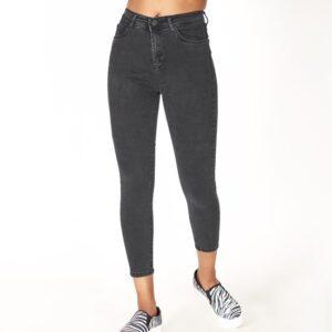 جينز أسود بخصر مرتفع نسائي