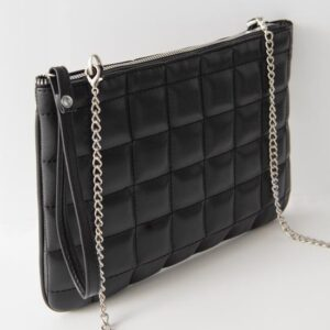 Women's Chain Strap Black Portfolio Bag