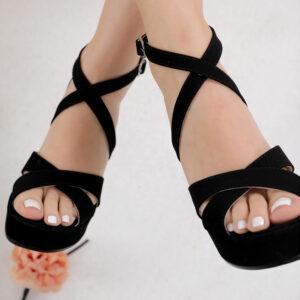حذاء روكي أسود بباند كروس نسائي