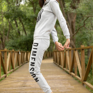 Women's Text Print Color Block Lilac Tracksuit