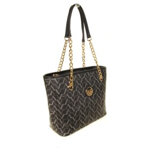 Women's Patterned Black Bag