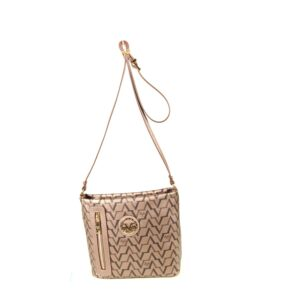 Women's Patterned Platinum Crossbody Bag