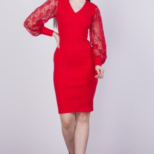 Women's Sleeve Detail Rib Dress