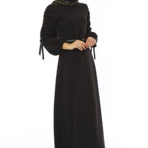 Women's Belted Long Dress