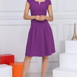 فستان قصير قماش بطيات نسائي