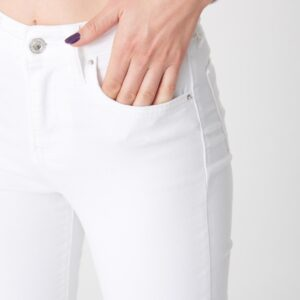 Women's Pocket White Jeans