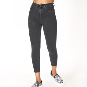 Women's High Waist Black Jeans
