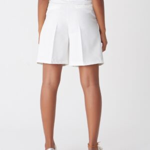Women's High Waist White Shorts